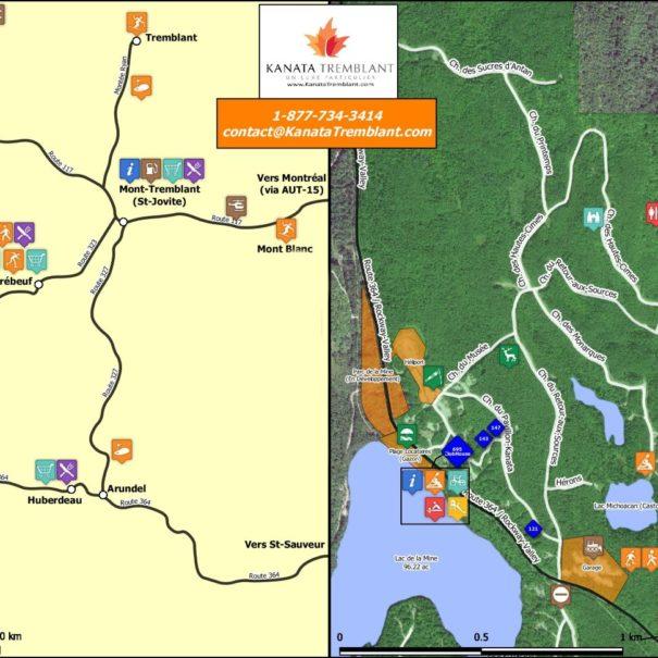 Carte du site kanata tremblant